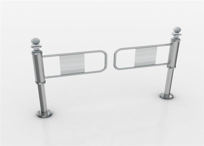 Mechanical hand push electronic turnstiles single direction entrance security gates